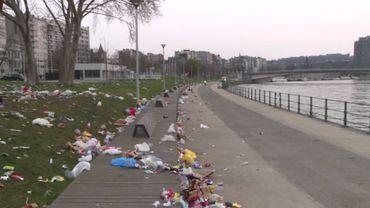 Liège: un spectacle désolant le long de la Meuse et au parc de la Boverie suite au beau temps