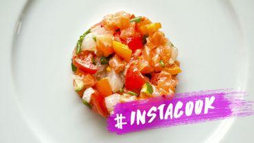 #InstaCook : un tartare de saumon aux fraises