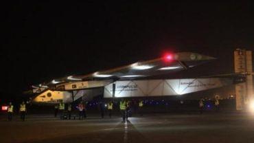 Le Solar Impulse lors de son escale à l'aéroport de Chongqing