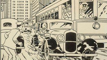 """Hergé, """"Tintin en Amérique"""", 1937,  encre de chine sur papier"""