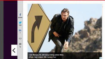 """Liam Neeson dans """"Tak3n"""" Capture d'écran de usatoday.com"""