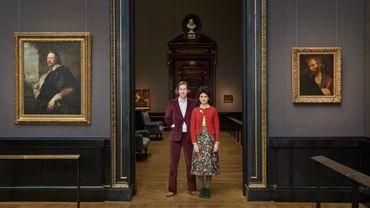 Wes Anderson et Juman Malouf pour leur exposition #ViennaGoesWes, visible pendant six mois au musée d'Histoire de l'art de Vienne