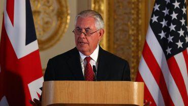 Le secrétaire d'Etat américain Rex Tillerson, le 14 septembre 2017 à Londres