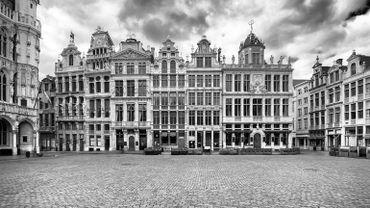 Une des photos prises pendant le premier confinement et versée aux archives de la Ville de Bruxelles