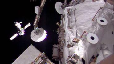 Arrimage du vaisseau Soyouz à l'ISS