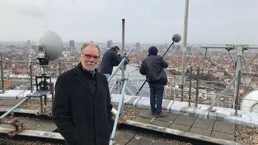 Jacques Bredael sur les toits de la RTBF