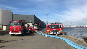 La phase d'urgence communale déclenchée en raison de l'incendie au port d'Anvers.