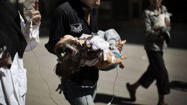 Violents combats à Alep, des enfants blessés