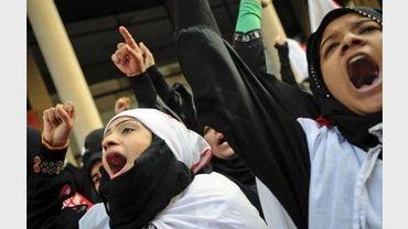 Des femmes manifestent à Manama le 15 mars 2011, à Bahreïn
