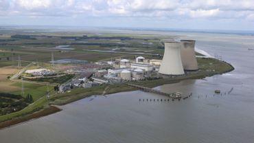 Vue aérienne de la centrale de Doel