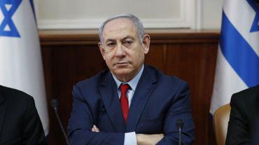 le premier ministre israélien Benjamin Netanyahu, le 05 janvier à Jérusalem.