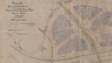La plaine des Vennes, telle qu'imaginée juste après l'exposition universelle, plan apperouvé le 30 juin 1908