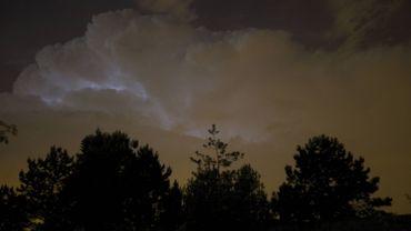 Alerte orange aux orages en province de Luxembourg jusqu'à 22 heures ce dimanche