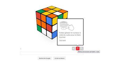 Google propose de jouer au Rubik's Cube depuis la page d'accueil de son moteur de recherche