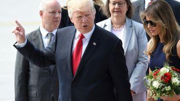 Le président américain Donald Trump arrive à Hambourg en Allemagne, le 6 juillet 2017