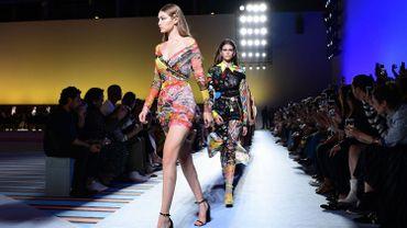 Fashion Week milanaise et défilé Versace printemps-été 2019.