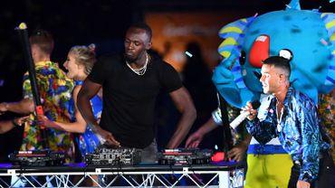Usain Bolt en DJ pour la clôture des Jeux du Commonwealth