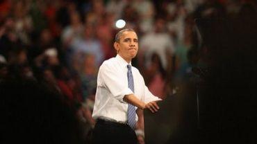 Barack Obama en meeting à Miami, en Floride, le 11 octobre 2012
