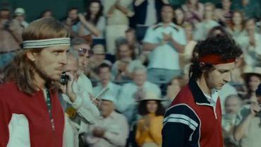 """Capture d'écran de la bande-annonce du film """"Bork vs. Mac Enroe""""."""