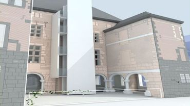 Une esquisse de la transformation du bâtiment, telle que les architectes l'envisagent.