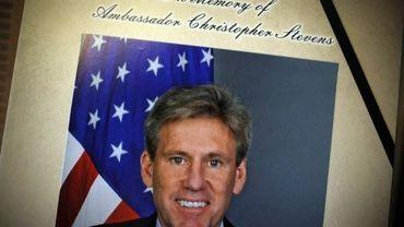 Portrait de l'ambassadeur américain Christopher Stevens, mort le 11 septembre 2012 dans l'attaque du consultat de Benghazi