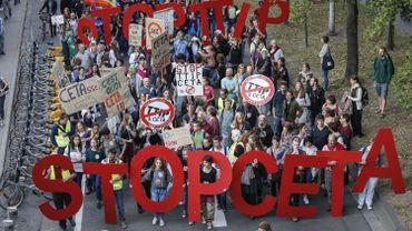 Manifestation contre le CETA le 20 septembre dernier