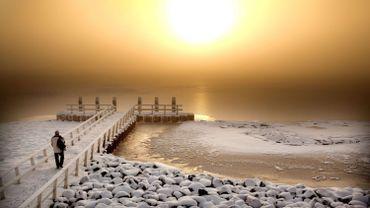 Soleil d'hiver aux Pays-Bas