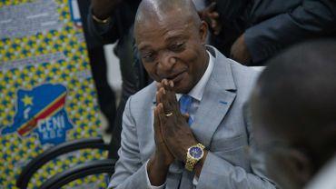 Emmanuel Shadary, lors de sa désignation comme dauphin officiel de Joseph Kabila, le 8 août 2018.