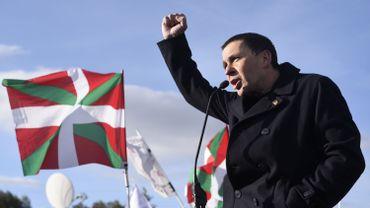 L'indépendantiste basque Arnaldo Otegi, à sa sortie de prison le 1er mars 2016 à Logrono