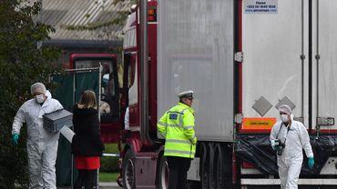 39 migrants morts à bord d'un camion frigorifique: une arrestation en Irlande