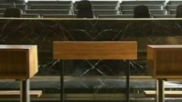 La salle d'audience du tribunal correctionnel de Charleroi