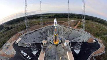 La fusée Soyouz qui lancera les deux premiers satellites de Galileo