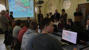 """Le projet pilote """"coachs climat"""" a été lancé ce jeudi matin à l'école des Frères à Tournai"""