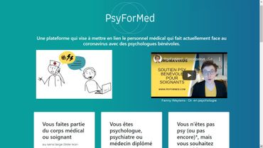 capture d'écran du site psy for med