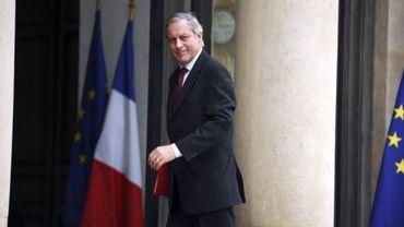 Christian Noyer, le gouverneur de la Banque de France, arrive à l'Elysée le 25 juin 2012