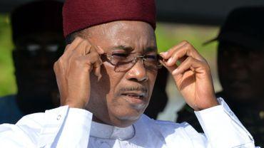 Le président nigérien Mahamadou Issoufou, à Niamey le 19 mars 2016