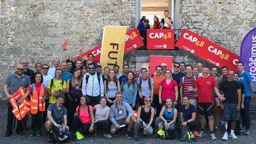 Quarante membres de la RTBF marchent 100 km pour récolter des fonds en faveur de CAP48.