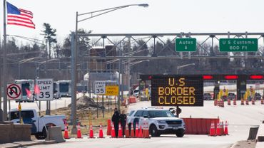 La frontière à Lansdowne, Ontario.