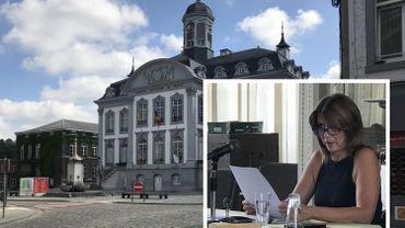 Muriel Targnion à l'hôtel de ville de Verviers