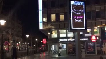 Les activistes anti-pub à l'oeuvre dans les rues de Liège