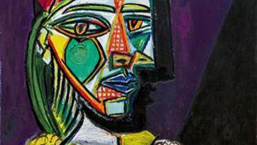 """""""Femme au béret et à la robe quadrillée (Marie-Thérèse Walter)"""" de Pablo Picasso, 4 décembre 1937."""