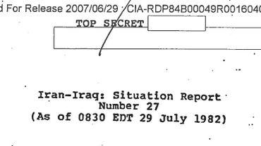 Attaques chimiques de Saddam Hussein: la preuve que les USA l'ont aidé