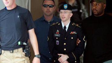 La taupe de WikiLeaks Bradley Manning à Fort Meade le 30 juillet 2013