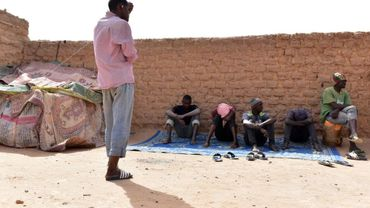Des migrants à Agadez, au Niger, le 1er avril 2017