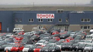 Le parking de l'usine Toyota de Valenciennes, le 2 février 2010