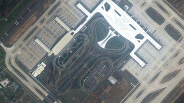 L'aéroport de Wuhan, complètement désert