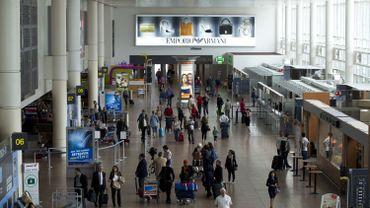 Le hall des départs de Brussels Airport