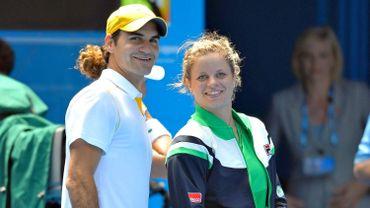 Roger Federer et Kim Clijsters à l'Australian Open 2011