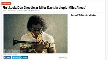 Don Cheadle, ici déguisé en Miles Davis, a déclaré ne pas vouloir faire un biopic classique sur le musicien