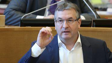 Pierre-Yves Jeholet, chef de file MR au Parlement de Wallonie.